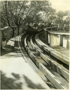 WIld Cat rollercoaster, Hershey Park. Returning to the station. ca1923-1930