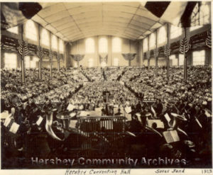 John Philip Sousa at the podium, Hershey Convention Hall. July 4, 1925