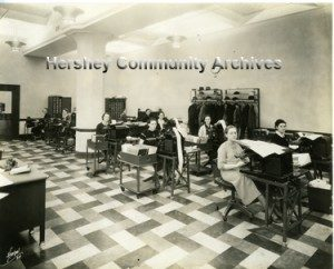 Hershey Chocolate Corporation; Payroll record keeping department. ca.1935-1940
