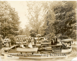 One of the first Kiddie rides added to Hershey Park was a children's boat ride. ca.1926-1935
