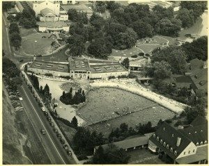 Aerial, Hershey Park Swimming Pool; ca.1938-1950