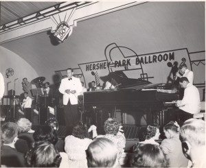 Guy Lombardo and his Royal Canadians perform to a standing room only crowd at Hershey Park Ballroom, 7/4/1953