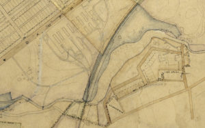 Map of Milton Hershey's land acquisitions, ca1903. Detail showing Trinidad Avenue