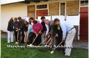 Groundbreaking for the new theater, 10/2006