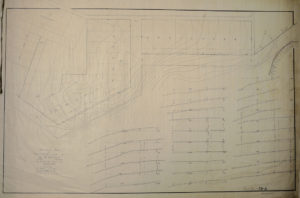 Topographical map of future Trinidad Avenue housing construction, 7/1903