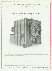 Catalog; page 4. Image of a J.M. Lehmann Roasting Machine; Roaster; Catalog; J.M. Lehmann Dresden-Loebtau, 1902 edition