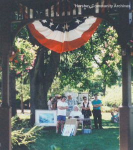 Hershey Area Art Association members at Arts in the Park in Chocolatetown Square, 1996