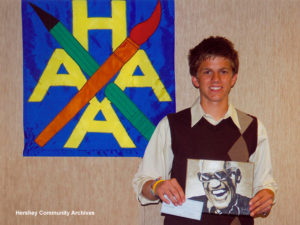 Hershey Area Art Association scholarship recipient for 2010, Zachary Artz.