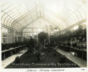 Hershey Estates Greenhouse, 1931