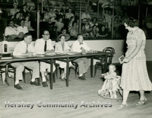 Baby Parade in progress at the Hershey Sports Arena. 1950