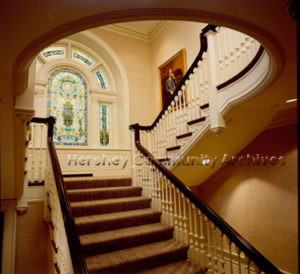 High Point staircase, after 1977 renovations by Hershey Foods Corporation