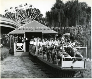 Pennsylvania German Band on route to the Hershey Park Bandstand. 1960