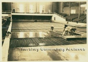 An ice rink was installed in the Hershey Convention Hall during the winter of 1930-1931.