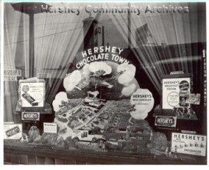 Hershey Chocolate Corporation store window display, ca.1930-1932