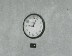 A weather indicator was installed underneath each clock in Hershey Chocolate Corporation's windowless office building.