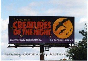 Creatures of the Night billboard, 1996.