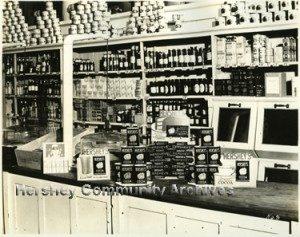 Hershey Chocolate store counter display. ca.1920-1925