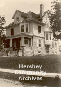 Fanny Hershey's home was located on Chocolate Avenue, just across the street from the Hershey Chocolate factory. ca. 1909-1928