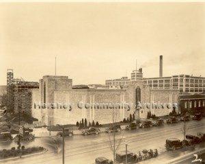 Under construction: Hershey's Modern Office Building. 1935