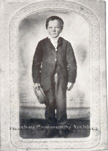 Milton Hershey as a seven year old boy, 1864.