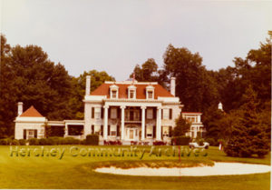 High Point Mansion served as the Hershey Country Club clubhouse until 1970.