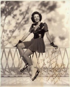 Evelyn Chandler, Hershey's first ice skating professional, 1945