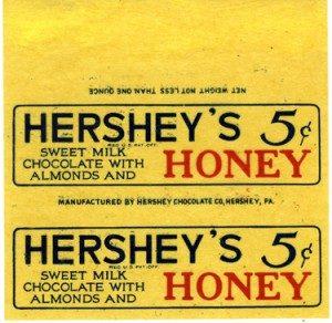 Hershey's HONEYBAR, 1930-1935