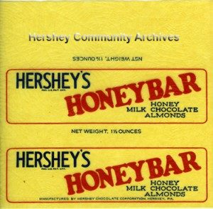 Hershey's HONEY bar. 1927-1930