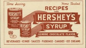 Hershey's Syrup recipe pamphlet, 1936