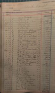 Detail of Hershey Improvement Company Transfer Ledger, #1. ca1906-1916