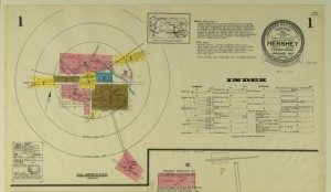 Sanborn Insurance map: Hershey, PA 1915. Detail showing map index