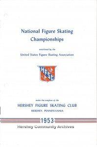 National Figure Skating Championships, official program. 1953