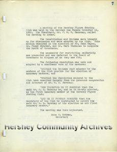 Hershey Figure Skating Club minutes, 11/14/1935