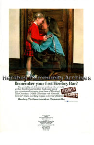 Hershey Foods Corporation used both television and print media ads to promote its products. 1980