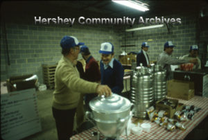 Good food for sale at the Hershey Rotary Club auction, 4/22/1982