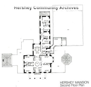 High Point 2nd floor plan, prior to 1977 renovations
