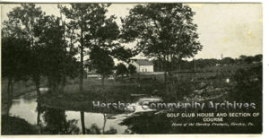 Hershey's first golf course was nine holes and was located along Chocolate Avenue. ca1915