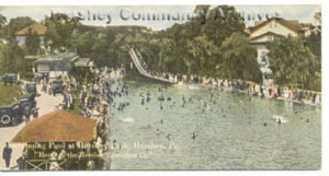 Specially sized postcards promoting the town of Hershey were included with Hershey's Milk Chocolate bars. ca1915-1920