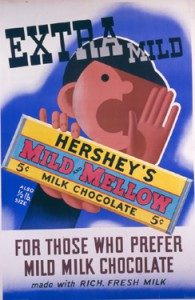 Hershey's Mild and Mellow milk chocolate bar was introduced in January 1934.