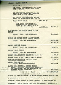 A list of the companies included in the transfer of Milton Hershey's assets to Hershey Chocolate Company.