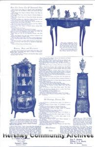 Flyer: M.S. Hershey Estate Auction, December 17 & 18, 1945, reverse side
