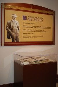 The Archives exhibit case in The Hershey Story lobby highlights materials from its collections.