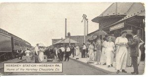 Postcards such as this one were used to promote Milton Hershey's model industrial town.