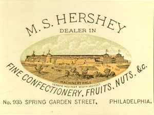 Trade card; Milton Hershey's first business, Philadelphia, PA. ca.1876