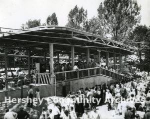 Comet roller coaster ride entrance, ca. 1946-1960