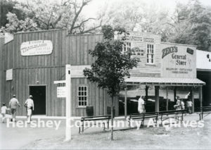 Trailblazer Theater and Saloon in the western themed area of Hersheypark, ca. 1976-1980