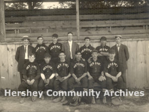 Hershey Baseball Team (William Murrie is pictured fourth from left, back row), 1905
