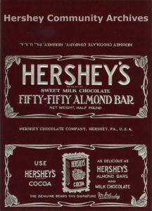 Hershey's 50-50 Almond bar wrapper, 1926