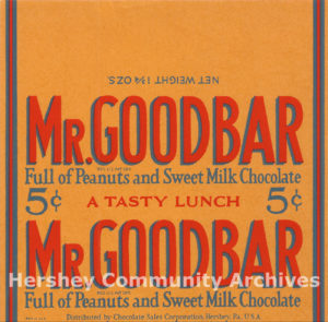 Mr. Goodbar wrapper, ca. 1927