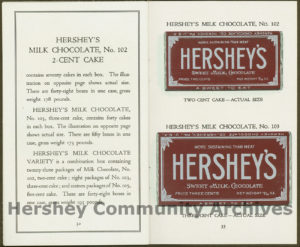 Hershey Chocolate Company sales booklet, ca. 1916-1920